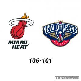 Baloncesto.NBA. Miami Heat vs New Orleans Pelicans