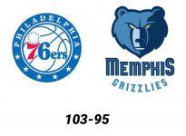 Baloncesto.NBA. Philadelphia 76ers vs Memphis Grizzlies